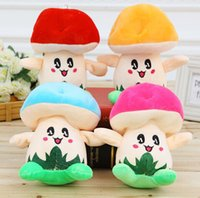 Wholesale Orange Mushrooms - 18cm Pink Official Orange Mushroom Plush Doll Stuffed Toys Plush mushrooms