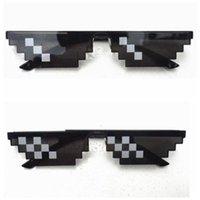 Wholesale Big Bite - 2017 Hot Sale YJ101 Thug Life Glasses 8 Bit Pixel Deal With IT Sunglasses Unisex Sunglasses