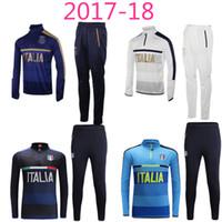 Wholesale Green White Tights - 2017 Survetement soccer jersey Calcio Italia TOTTI DE ROSSI Calcio Maglia Dybala KONDOGBIA MEDEL CANDREVA Milan football tracksuits tight