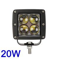 Wholesale Tractor Light Pcs - 1 piece 12v 24v DC 4 pcs 5w CREE 4D lens Spot beam Jeep SUV Tractor 20w led pod light