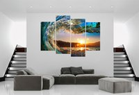 Wholesale Sea Wave - The sea, the waves in the sunset, high quality printing images, the sitting room is decorated, room decoration paintings