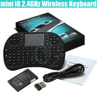 Wholesale Bluetooth Mouse Pad - mini i8 Wireless Keyboard 2.4G RII rechargeable battery Touchpad Remote Control bluetooth Fly Mouse PC Pad Andriod TV Box Xbox360 PS3 DHL