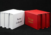 Wholesale Dhl Nail - 3 Colors Nectar Collectors kits with domeless quartz Nail titanium nail 10mm nectar collector nector oil rigs glass bongs water bongs DHL