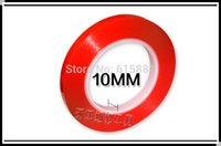Wholesale mm M Strong Acrylic Adhesive PET Red Film Clear Double Sided Tape No Trace