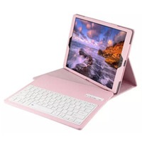Wholesale pink keyboard case for ipad - Removable Wireless Bluetooth Keyboard Case Luxury Leather Cases With Stand Holder For iPad Pro 12.9