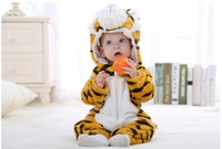 Wholesale One Polar - Autumn Winter Fashion Baby Clothes Cartoon Tige Baby Rompers Polar Fleece Newborn Clothing Infant Clothes One Piece Romper