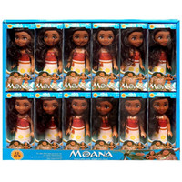 "Wholesale Glue Doll - 6"" Moana Barbie Dolls Classic Moana Pincess Plastic Vinyl glue Dolls Action Figure toys for Girls box pack"