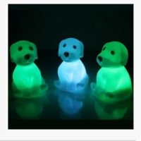 Wholesale Led Flashing Lights For Dogs - Novelty Animal Frog Dog Turtle Seven Colors Changeable Led Flashing Night Lights Lamp Toys for New Year's Christmas Birthday Novelty Gifts