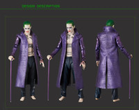 Wholesale batman costumes online - Film Kukucos Batman Suicide Squad Halloween Coat Leather Long Jacket Jared Leto Joker Cosplay Costume with pants Fashion Style