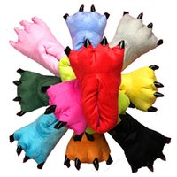 Wholesale Rubber Paws - Winter Soft Warm Paw Cute Indoor Floor Slippers Women Men Children Kids Shoes Animal Christmas Monster Dinosaur Household Shoes