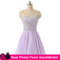 Wholesale Cheap Formal Gowns For Girls - 2017 New short Rhinestone Prom Dresses for Homecoming Graduation Sweet Sixteen Junior Girls Formal Wear Sale Cheap 2016 Lilac Cocktail Gowns