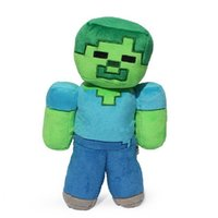 Wholesale Minecraft Creeper Plush Doll - 1pcs 18cm Minecraft Steve Plush Toys MC Minecraft Steve Creeper Zombie Soft Stuffed Toys Doll Christmas Gift