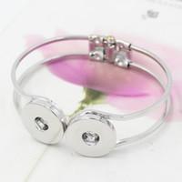 ingrosso braccialetti braccialetti chunky-Nuovo arrivo intercambiabile Chunky 18mm gioielli a scatto regolabile polsino aperto braccialetto a scatto braccialetto gioielli all'ingrosso pulseras