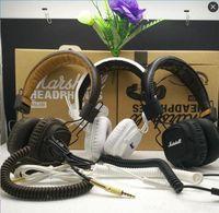 Wholesale Good Dj Headphones - Marshall Major Headphone With Mic Deep Bass DJ Hi-Fi Headphone HiFi Headset Professional DJ Monitor Headphone Good Quality