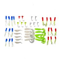 Soft Worm Lure Carpe Fishing Lure Set + 10 Lead Head Jig Hooks Simulação Suite Pesca Iscas Pesca Tackle 2508002