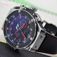 Wholesale Automatic Rubber Strap - New free shipping! F1 classic silver luxury mechanical sports style automatic calendar black rubber strap watches