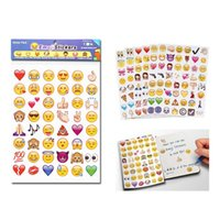 Wholesale Nursery Toys - DHL New Emoji Expression Stickers Cartoon Iphone Instagram Facia Decorative Living Room Bedroom Kids Room Wall Stickers Toys Gifts HH-S24