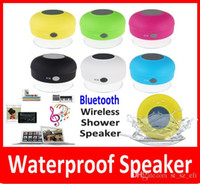 Wholesale Promotion Mini Portable Waterproof Wireless Bluetooth Shower Speaker Car Handsfree Receive Call Suction Phone IPX4 Speakers Box Player Mic