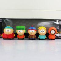 Wholesale Finish One - South Park Stan Kyle Eric Kenny Leopard PVC Action Figure Toys for kids gift 5.5cm 5pcs set