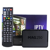Wholesale Dvb Android Receiver - Mag 250 254 IPTV Android Smart TV Box Video Channels Set Top Box STB Google Internet Quad Core Media Player VS Mag254