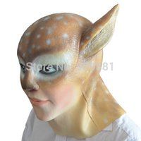 Wholesale Leopard Halloween Mask - Halloween Cartoon Leopard Head Latex Mask Sexy Women Realistic Animal Rubber Masks Masquerade Party Costume Props Adult Size Big Discount