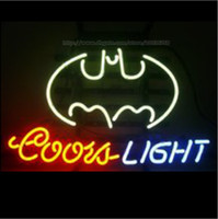 Coors Light Batman Bat Neon Sign Store Loja Sign Display Anúncio Sinal Real Glass Tube Sign Handcrafted Neon Light BeerBar Sign 24