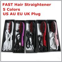 Wholesale Electronic Hair Straightener - Beautiful Star Fast Hair Straightener Flat Irons Straight Hair Styling Tool comb with LCD Electronic Temperature Controls Hair Comb