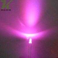führte 3mm rosa großhandel-1000pcs 3mm rosafarbene runde Wasser-klare LED-Licht-Lampe führte Dioden 3MM rosafarbene geführte Lampen freies Verschiffen