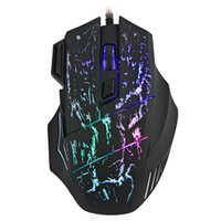 Wholesale novelty usb mice for sale - Group buy HXSJ Novelty Buttons Ergonomic Design Cool Colorful LED USB Wired Black Gaming Mouse Compatible with Computer and Laptop