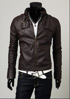 Wholesale Cleaner Production - 2016 new fashionable men's leather motorcycle jacket, leather cleaner production wholesale high quality fashion crime jacket warm outdoor ja