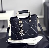 ingrosso ragazze europee totes-Fashion Composite Bag Borsa a mano in stile europeo e americano patchwork totes per donna ragazza signora wlw004