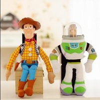 Wholesale Toy Story Woody Finger Puppet - Woody Sheriff And Buzz Lightyear Doll Brinquedos Plush Doll Toy Story 3 PP Cotton Plush Baby Toy Christmas Gift 1Pair lot 1230#30