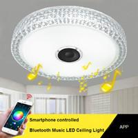 luces de estudio de techo al por mayor-Controlado por teléfono inteligente Lámpara de techo LED Bluetooth Música Led luz de techo art dec iluminación Estudio Habitación para niños Lámpara de techo