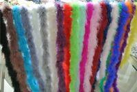 boa de plumas amarillas al por mayor-Venta al por mayor 20pcs 200cm / pcs blanco negro rojo naranja rosa claro rosa amarillo azul púrpura verde Marabou Feather Boa