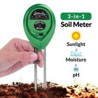 Wholesale Ph Soil Testing Kit - Soil Tester pH Meter Soil Moisture Meter Soil Test Kit 3 In 1 Garden Lawn Plants 100pcs OOA2997