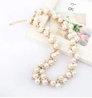 Trendy 10pcs Imitation collier de perles flash Drilling alliage strass Bling Bijoux Lumineux Collier Boho pour les femmes E797E