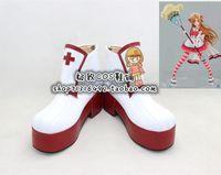 Wholesale Asuna Yuuki Cosplay Sword - Wholesale-Sword Art Online Asuna Yuuki sweet miad ver heavy sole Cosplay Boots shoes shoe boot #NC969 Halloween Christmas