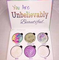 тени для век продажа оптовых-Любовь Люкс красоты фантазия палитра макияж Вы невероятно красивый маркер 6 цветов тени для век горячие продать