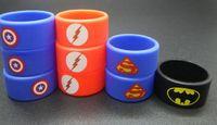 Wholesale Customize Rubber Bracelets - Personalized silicone bracelet, customized silicone band , cheap rubber band vape band, vape band ring, 22mm superman America shield