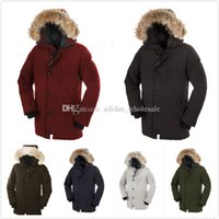 Wholesale Synthetic Flowers L - 2016 fashion Canadian C-007 Brand Men's Fashion Down Jacket CHATEAU PARKA Winter Warm Thick Down Jacket Coats Fur Collar Jackets Parkas