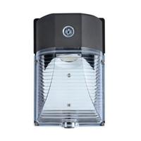 lamba askıları toptan satış-UL DLC 25 W LED Duvar Paketi Işık Açık Duvara Montaj Giriş Güvenlik Işık Fotoselli Otomatik On / off Duvar Lambası AC 90-277 V