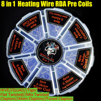 Wholesale demon killer fused clapton wire for sale - Group buy Demon Killer in1 Coils Alien Fused Clapton Flat Mix Twisted Hive Quad Tiger Heating Resistance Wire RDA Atomizer pre replacement Coil DHL