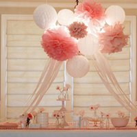 """Wholesale Tissue Paper Wholesale Free Shipping - Free Shipping 30pcs mixed (5""""13CM,8""""20CM,10""""25CM) Tissue Paper Pom Poms Wedding Party Birthday Baby shower Nursery decoration"""