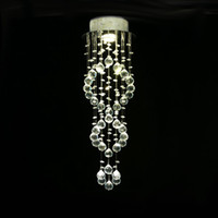 bırak hafif kolye toptan satış-Modern kolye aydınlatma Tavan Aydınlatma kristal top avize Spiral Damla kristal avizeler Merdiven Merdiven Işıkları