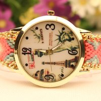 Vintage Statue of Liberty Hand-Woven Bracelet Relógios Alta Qualidade Cheap Wholesale Watch para Mulheres Girl Custom Your Own Logo Designer Watch