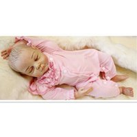 Wholesale Real Doll Materials - Good Quality Real Reborn Babies Bonecas Sleeping Doll Toys Girl Gift,20 Inch Vinyl Material Realistic Reborn Doll with Clothes