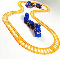 Wholesale Train Assembly Toys - IN stock Rail car small train children toys car electric assembly wholesale supply retail free shipping free shipping