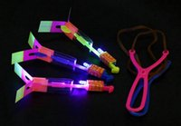 online shopping Led Amazing Helicopter - Amazing LED Flying Arrow Novelty Children Toys luminous ejection arrow Helicopter for Sports Funny Slingshot birthday party Kids' Gift