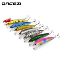 Wholesale jigging lure 8g resale online - Dagezi New Cm G Fishing Lure Hard Bait Artificial Baits Minnow Fishing Wobbler Pesca Laser Painting D Eyes
