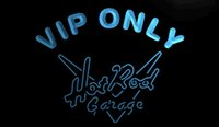 Wholesale Hot Rod Neon Sign - LS1259-b-VIP-Only-Hot-Rod-Garage-Neon-Light-Sign Decor Free Shipping Dropshipping Wholesale 6 colors to choose